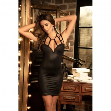 robe bustier cage noire